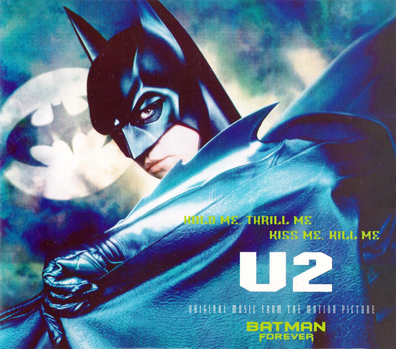 U2 (ユートゥー) シングル『Batman Forever - Hold Me, Thrill Me, Kiss Me, Kill Me』(1995年) 高画質ジャケット画像