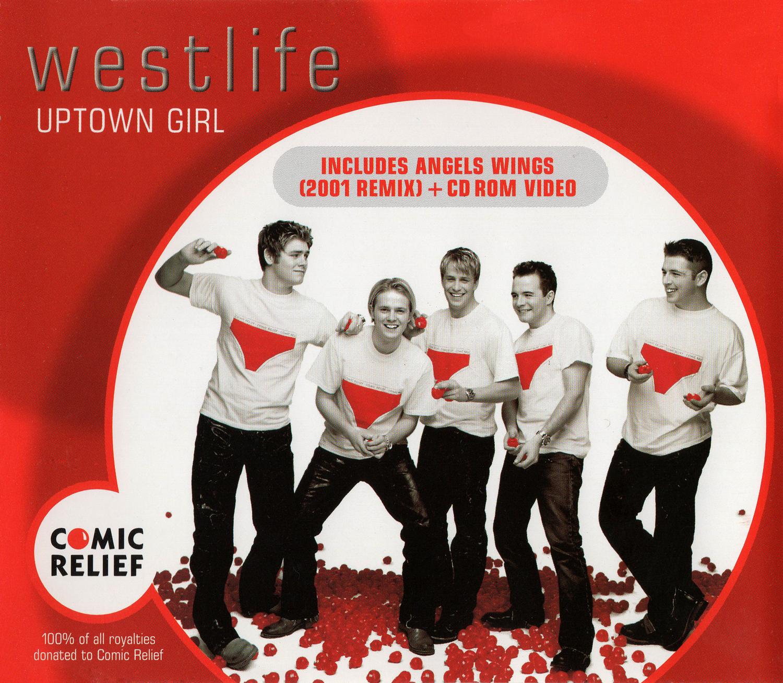 westlife (ウエストライフ) 9thシングル『UPTOWN GIRL (アップタウン・ガール)』(2001年2月26日発売) 高画質ジャケット画像