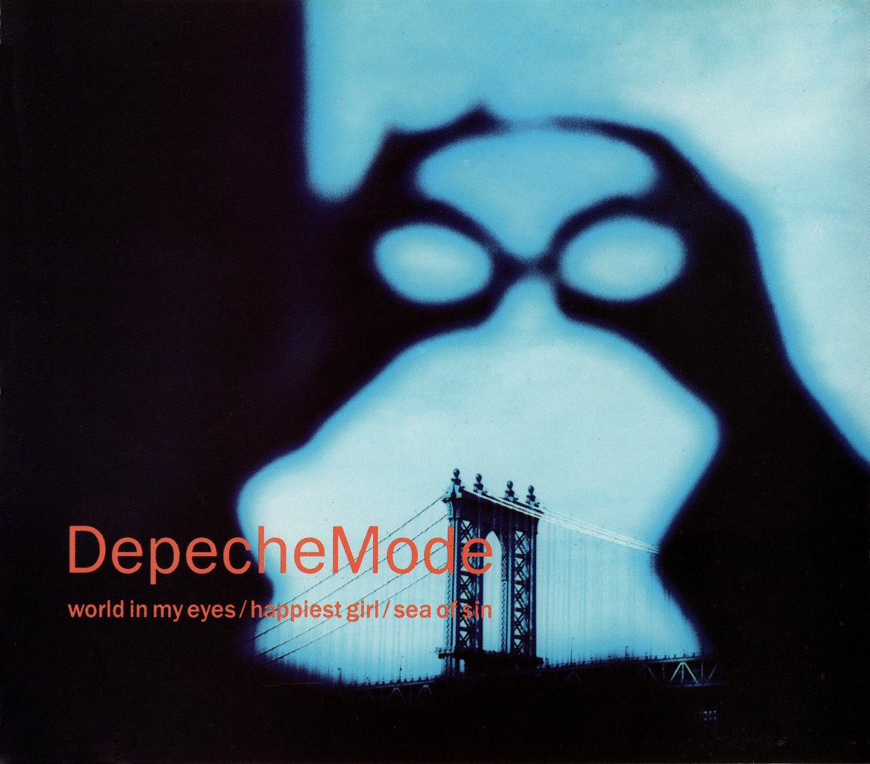 Depeche Mode (デペッシュ・モード) シングル『world in my eyes/happiest girl/sea of sin [Single #1]』(1990年) 高画質ジャケット画像