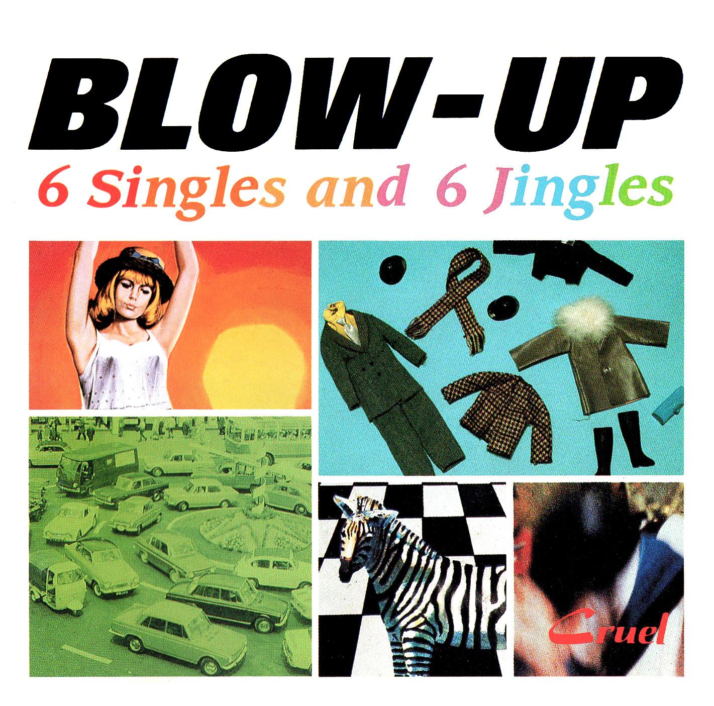 Crue-L Records (クルーエル・レコーズ) オムニバス・アルバム『Blow-Up 6 Singles And 6 Jingles』(初回盤) 高画質CDジャケット画像