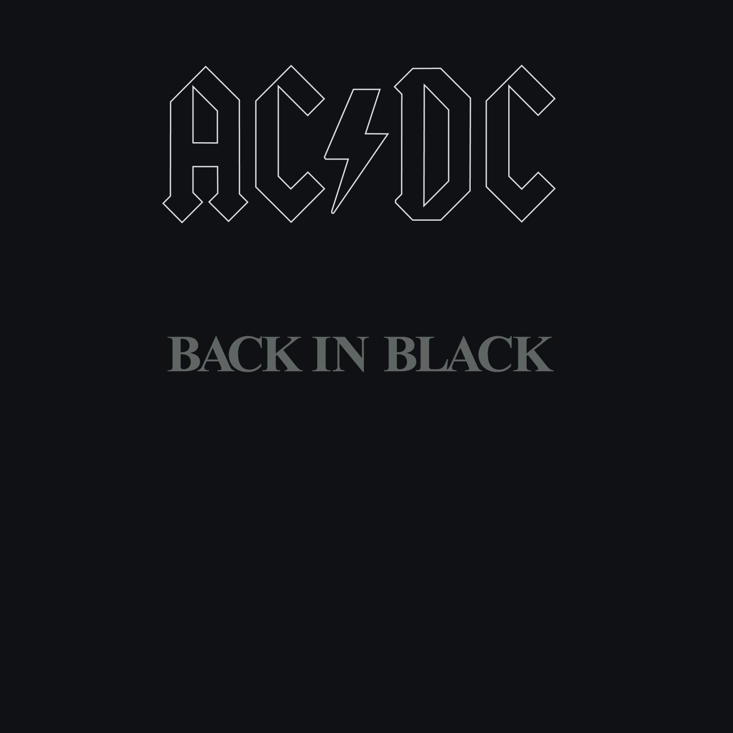 AC/DC (エーシー・ディーシー) 6thアルバム『BACK IN BLACK (バック・イン・ブラック)』(1980年7月25日発売) 高画質CDジャケット画像