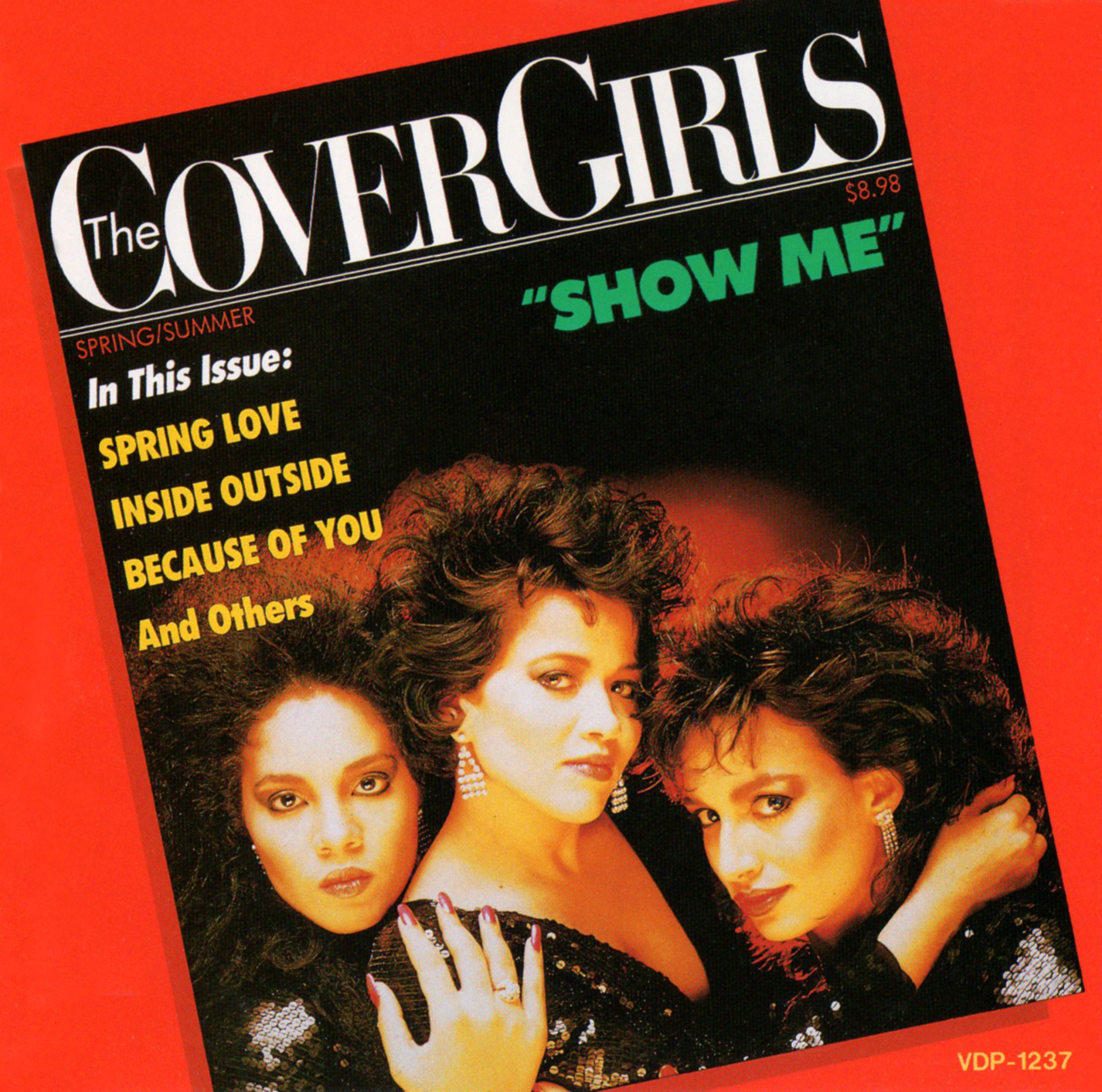 THE COVER GIRLS (カバー・ガールズ) 1stアルバム『SHOW ME (ショウ・ミー)』(1987年8月21日発売) 高画質CDジャケット画像