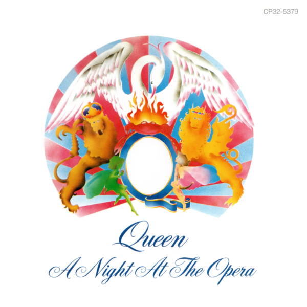 Queen (クイーン) 4thアルバム『A Night at the Opera (オペラ座の夜)』(1987年4月21日発売) 高画質CDジャケット画像 (ジャケ写)