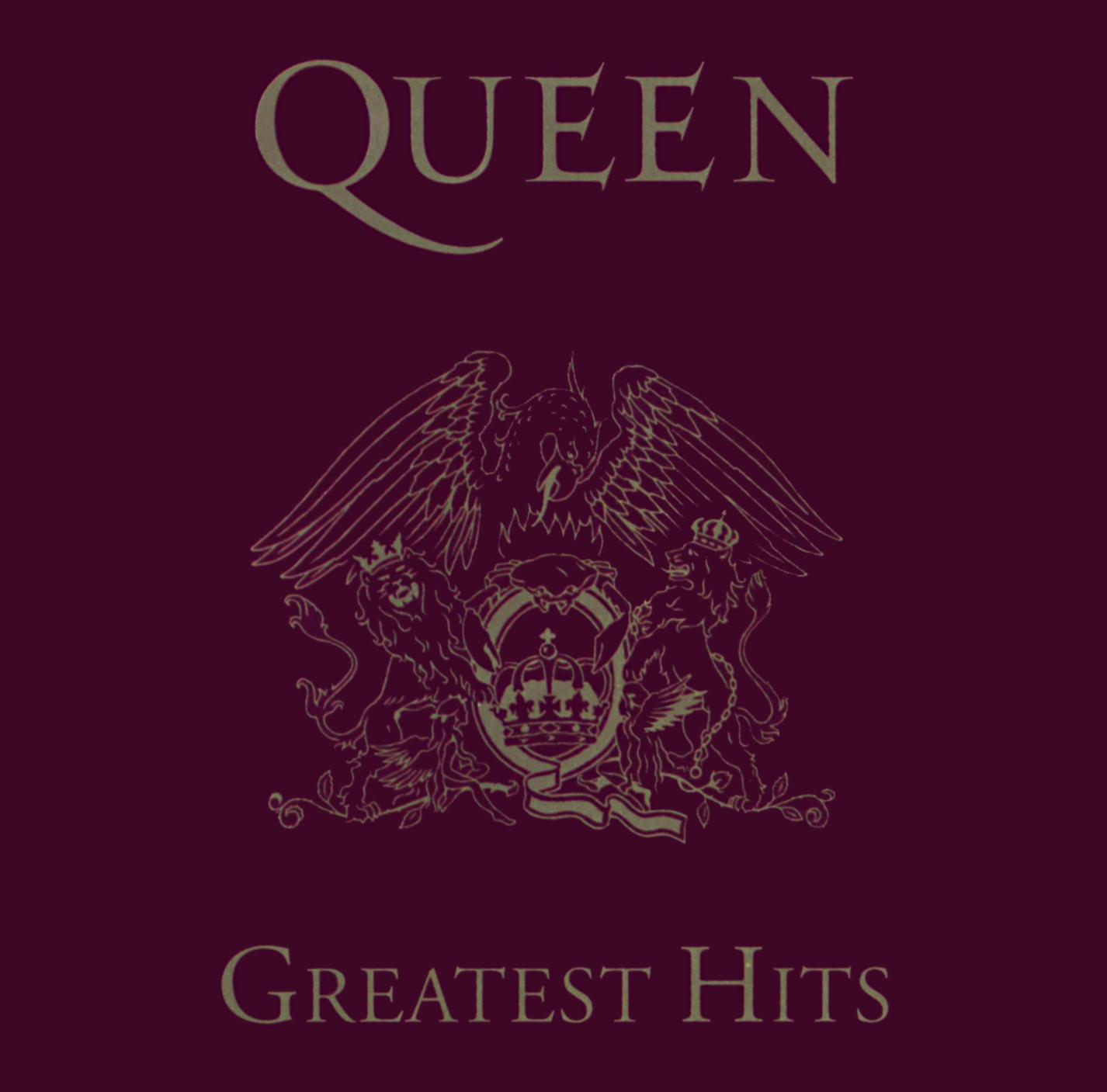 Queen (クイーン) ベスト・アルバム『Greatest Hits (グレイテスト・ヒッツ)』(1992年発売US盤) 高画質CDジャケット画像