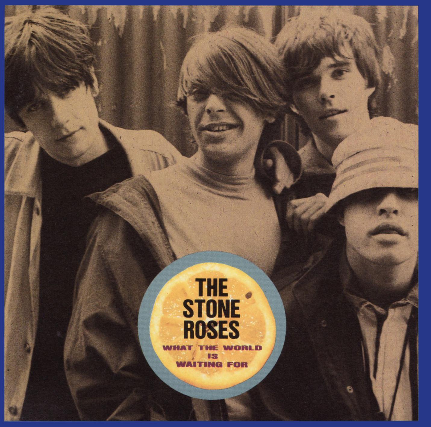 The Stone Roses (ザ・ストーン・ローゼス) 来日記念ミニアルバム『What The World Waiting For (ホワット・ザ・ワールド・イズ・ウェイティング・フォー)』(1989年11月28日発売) 高画質CDジャケット画像
