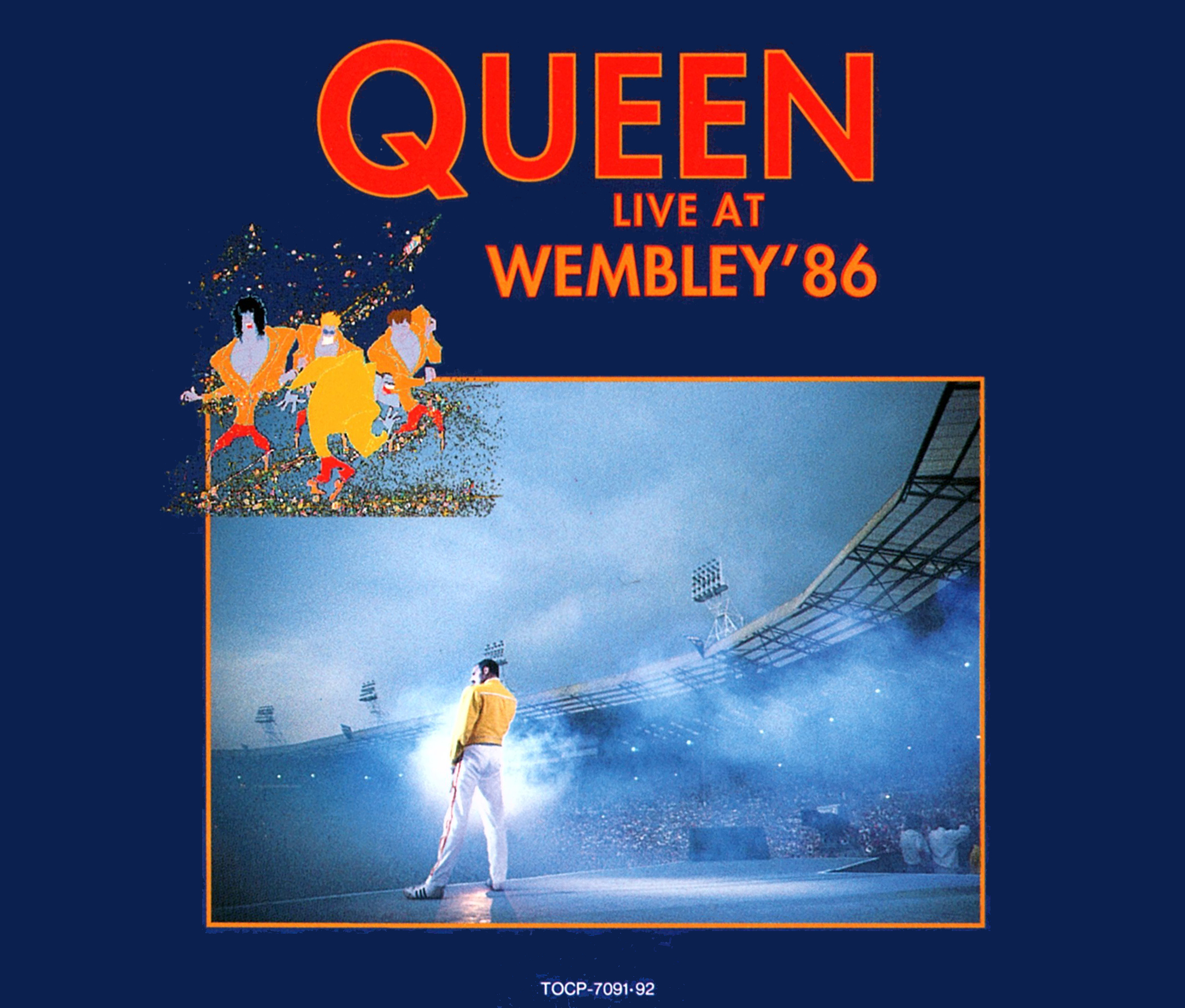 Queen (クイーン) ライブ・アルバム『Live At Wembley Stadium (クイーン・ライヴ!!ウェンブリー1986)』(1992年6月24日発売) 高画質CDジャケット画像