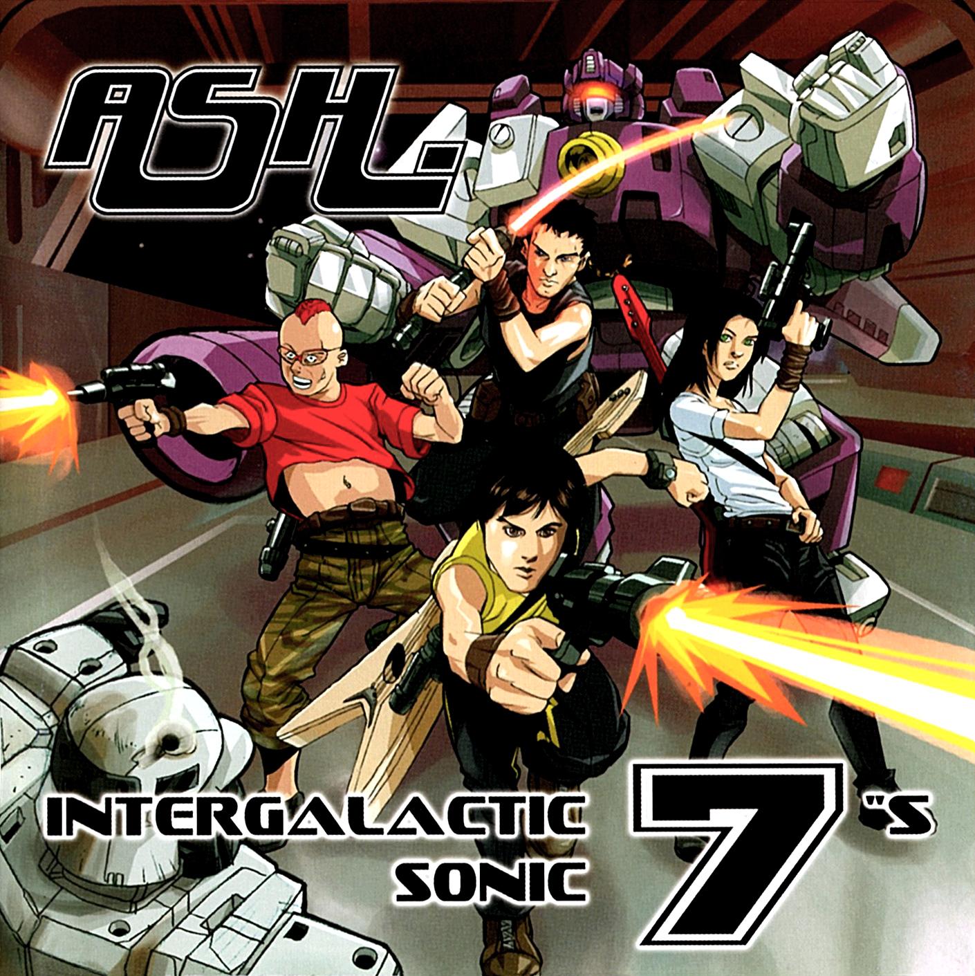 """Ash (アッシュ) ベスト・アルバム『INTERGALACTIC SONIC 7""""S (インターギャラクティック・ソニック・セブンズ)』(2002年9月19日発売) 高画質CDジャケット画像"""