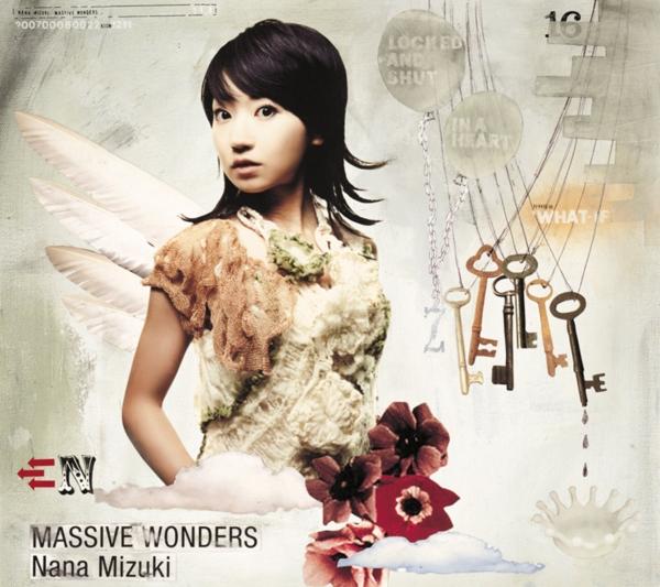 水樹奈々 (みずきなな) 16thシングル『MASSIVE WONDERS (マッシヴ・ワンダーズ)』(2007年8月22日発売) 高画質CDジャケット画像