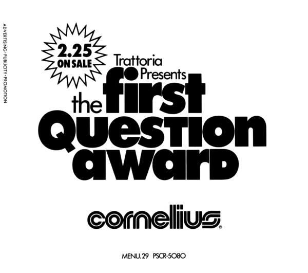 Cornelius (コーネリアス) 1stアルバム『THE FIRST QUESTION AWARD (Cornelius Sampler 002)』(1994年2月25日発売) 高画質CDジャケット画像