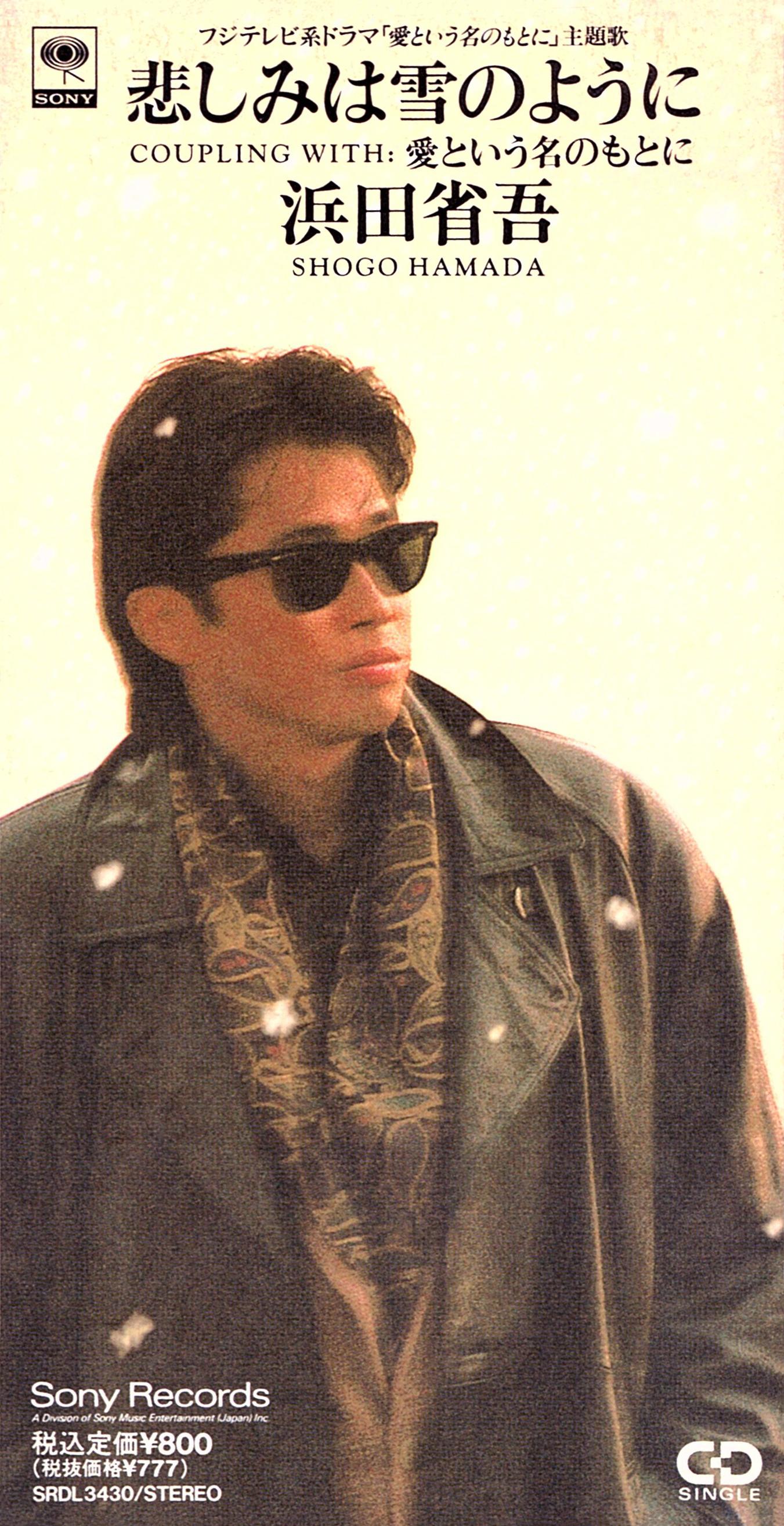 浜田省吾 (はまだしょうご) 23rdシングル『悲しみは雪のように』(1992年2月1日発売) 高画質CDジャケット画像 ジャケ写