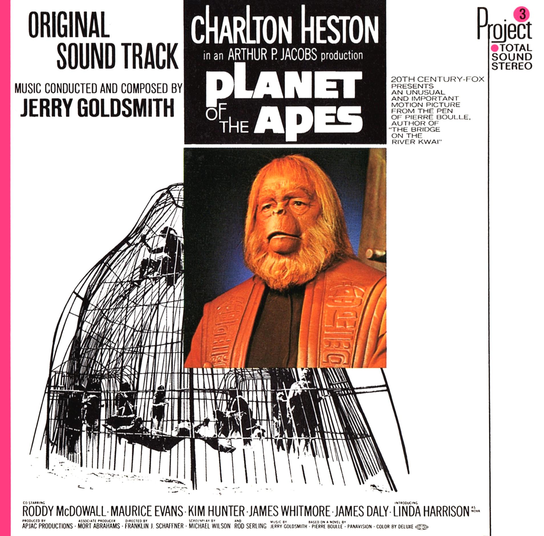 JERRY GOLDSMITH (ジェリー・ゴールドスミス)『PLANET OF THE APES/ORIGINAL SOUND TRACK (猿の惑星/オリジナル・サウンドトラック)』高画質CDジャケット画像 (ジャケ写)