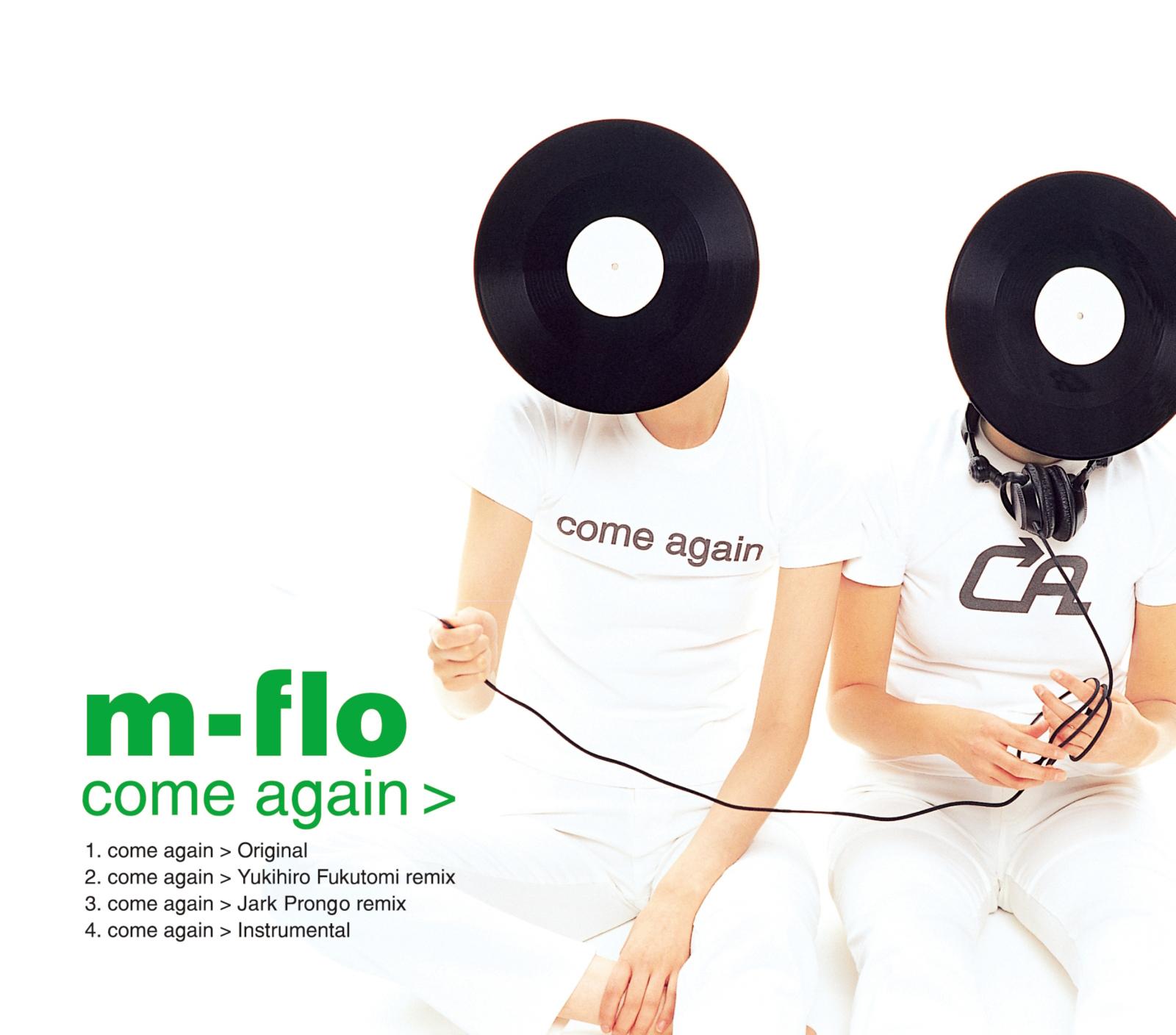 m-flo (エム-フロウ) 9thシングル『come again (カム・アゲイン)』(2001年1月17日発売) 高画質CDジャケット画像 (ジャケ写)
