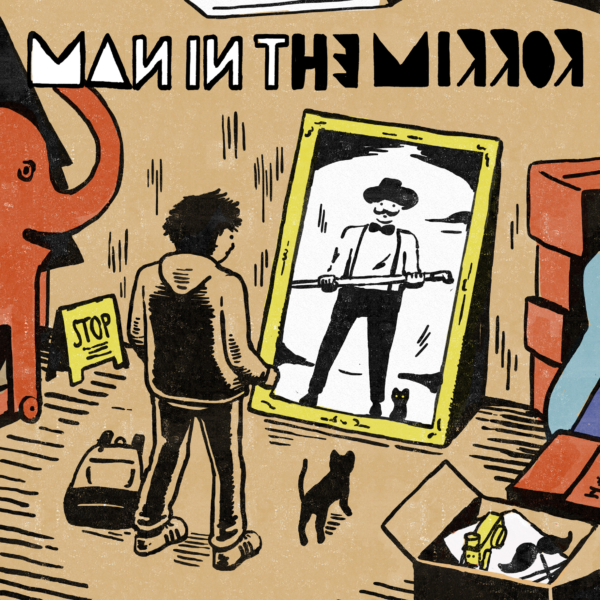 Official髭男dism (オフィシャルヒゲダンディズム) 2ndミニアルバム『MAN IN THE MIRROR』(2016年6月15日発売) 高画質CDジャケット画像 (ジャケ写)