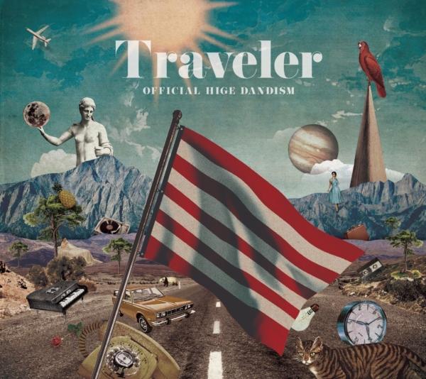 Official髭男dism (オフィシャルヒゲダンディズム) メジャー1stアルバム『Traveler (トラベラー)』(通常盤) 高画質CDジャケット画像 (ジャケ写)