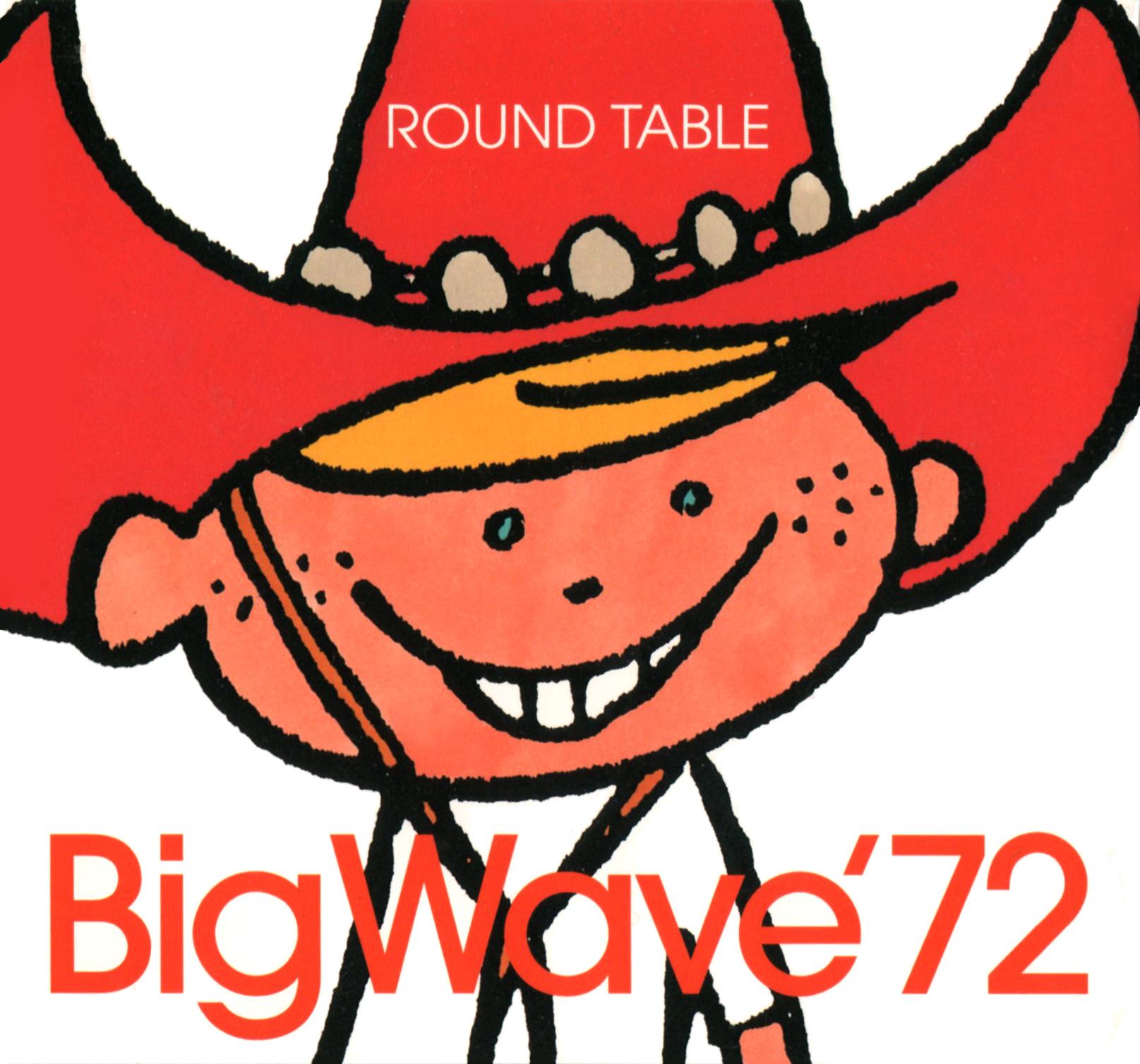 ROUND TABLE (ラウンド・テーブル) 6thミニアルバム『Big Wave '72 (ビッグウェーブ'72)』(1999年7月7日発売) 高画質CDジャケット画像 (ジャケ写)