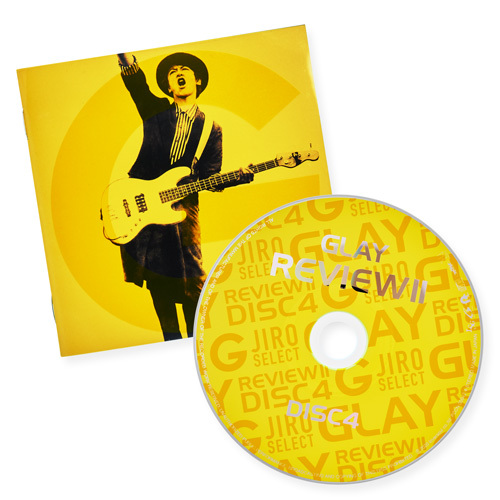 GLAY (グレイ) 25周年記念ベストアルバム『REVIEW II ~BEST OF GLAY~』(JIRO画像 (ジャケ写)とCDレーベル画像