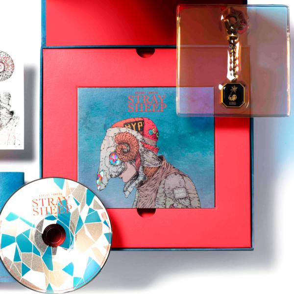 米津玄師 (よねづけんし) 5thアルバム『STRAY SHEEP (ストレイ・シープ)』(おまもり盤) 高画質CDジャケット画像