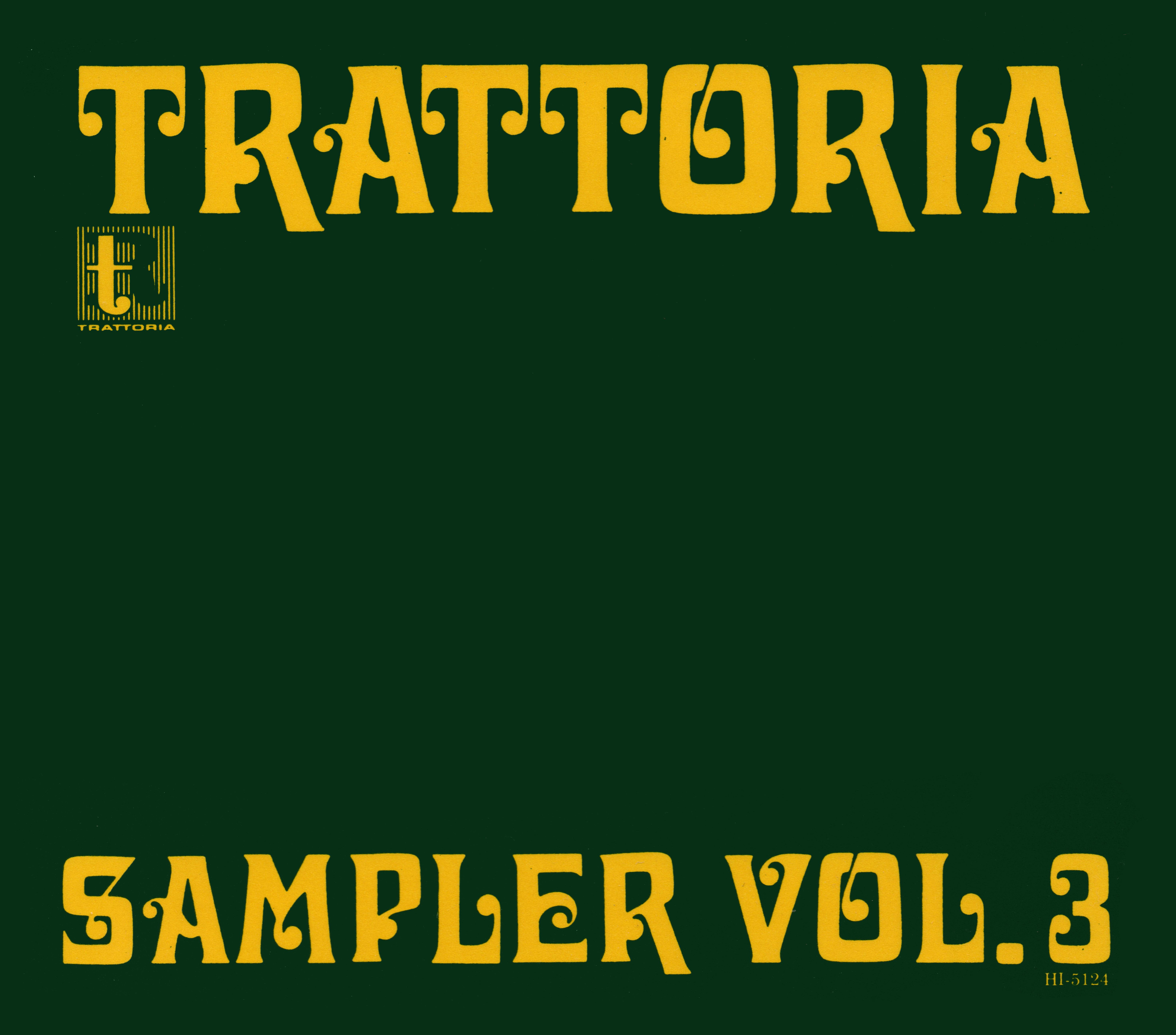 非売品プロモ盤オムニバスCD『TRATTORIA SAMPLER VOL.3』1994年高画質CDジャケット画像