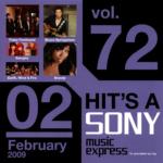 非売品オムニバスCD『HIT'S A SONY music express for promotional use only vol.72 02 February 2009』高画質CDジャケット画像 (ジャケ写)