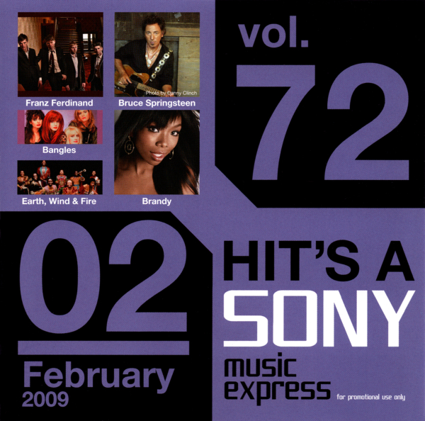非売品オムニバスCD『HIT'S A SONY music express for promotional use only vol.72 02 February 2009』高画質CDジャケット画像 (ジャケ写)